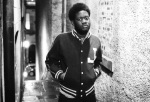 Michael Kiwanuka Edinburgh Alleyway Black and White Baseball Jacket photo