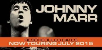 Johnny Marr Reschedule